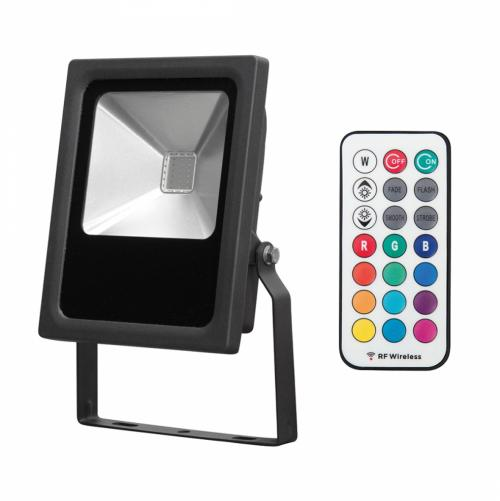 ULTRALUX - SP10RGB LED прожектор RGB RF 10W, IP65, 220-240V AC, COB