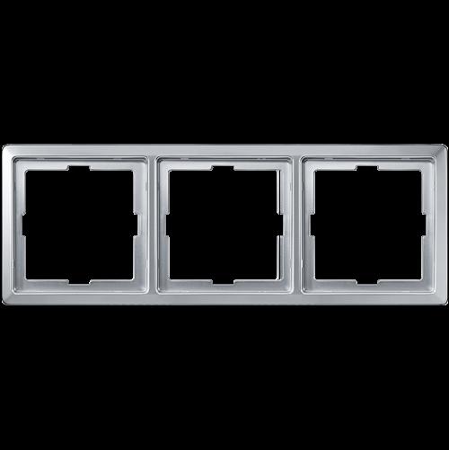 SCHNEIDER ELECTRIC - MTN481360 рамка тройна алуминий Artec Merten