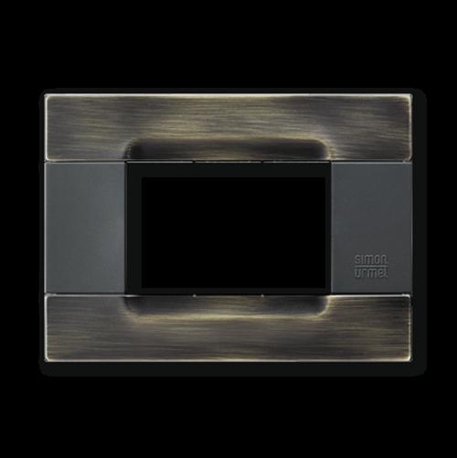 SIMON URMET - 10803.84 Brassy Brushed Polychrome Gloss Metal Kadra