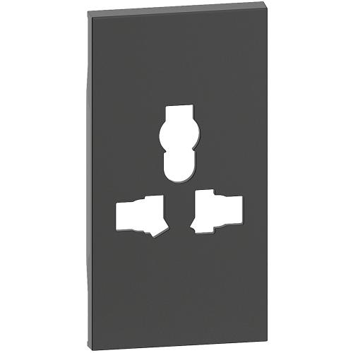 BTICINO - Лицев панел за контакт МУЛТИСТАНДАРТ 2 мод. цвят черен Living Now Bticino KG59