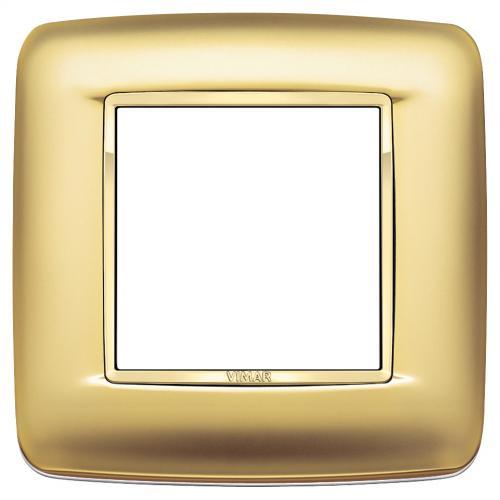 VIMAR - 20672.G21 - Round plate 2M Galvan.satin gold