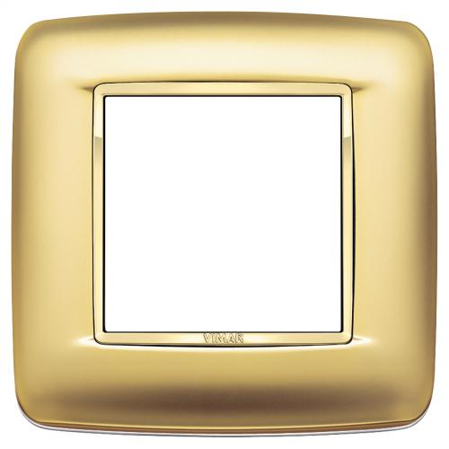 VIMAR - 20672.G21 - Двумодулна рамка Round Galvan satin gold