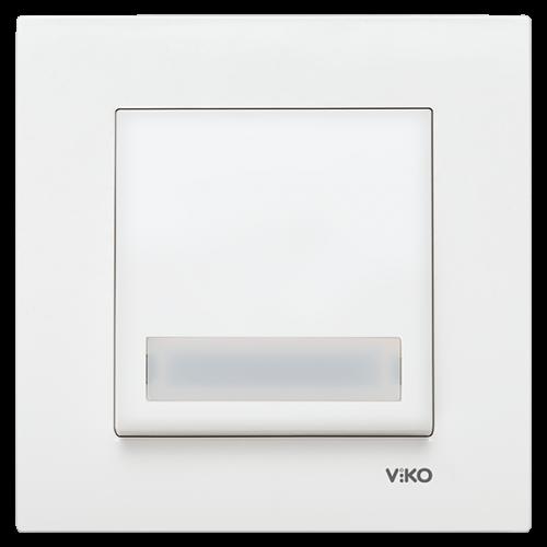 VIKO - 9096 0027 Push Button with Label, Illuminated LED