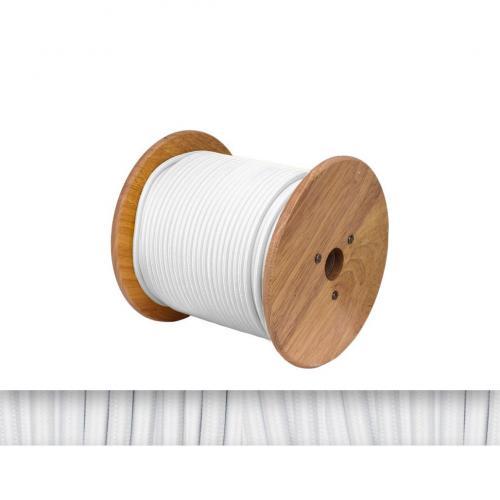 БЪЛГАРСКИ КАБЕЛ - Текстилен кабел кръгъл бял 2x0.75