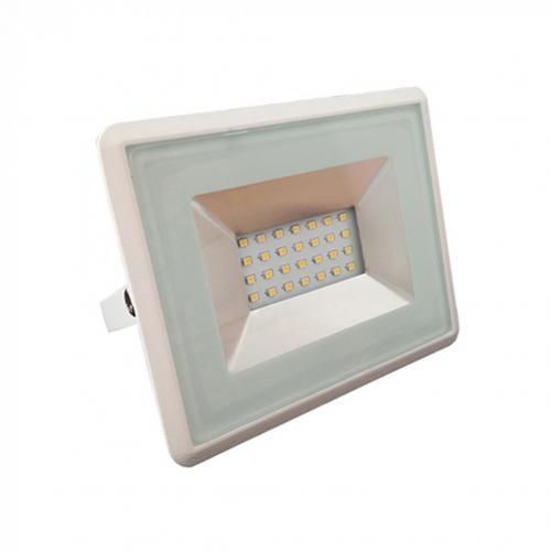 V-TAC - 20W LED Прожектор E-Series Бяло Тяло 3000K SKU: 5949 VT-4021 , 4500K-5950, 6000K-5951