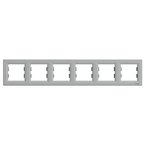 SCHNEIDER ELECTRIC - EPH5800661 Декоративна Рамка Шесторна Asfora Алуминий