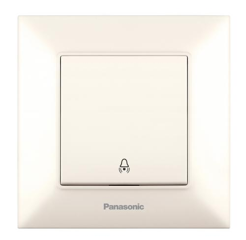 PANASONIC -  Бутон звънец Panasonic Arkedia Slim крем WNTC0019-2BG