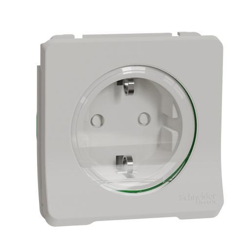 SCHNEIDER ELECTRIC - Контакт шуко 16А с детска защита механизъм IP55 Mureva  цвят Бял автоматични клеми MUR39134
