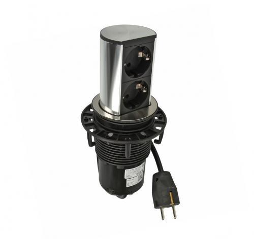 BACHMANN - B928.002 Модул ELEVATOR 2 броя контакт тип шуко с детска защита черни