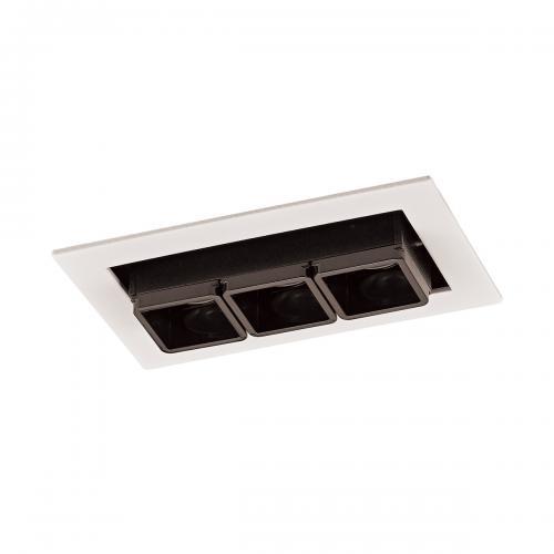 ITALUX - LED панел 6W 350 lm 3000 K Цвят на лампата  Бял черен  Harper SL74113/6W S-WH