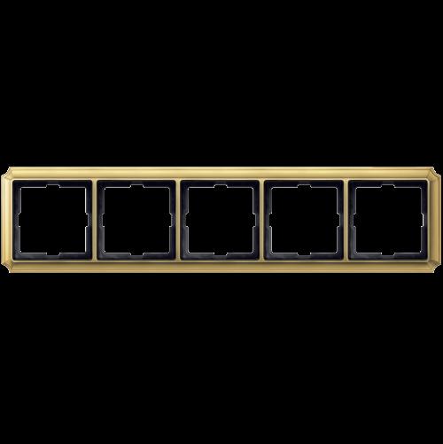 SCHNEIDER ELECTRIC - MTN483521 рамка петорна полиран месинг Antique Merten