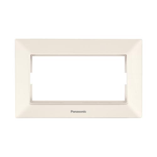 PANASONIC - Рамка за двоен контакт крем Panasonic Arkedia Slim WNTF0809-2BG
