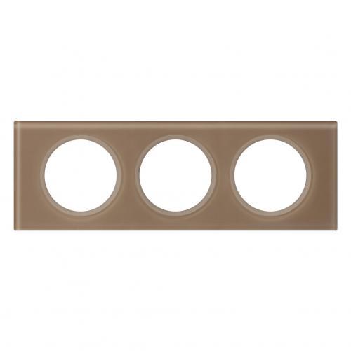 LEGRAND - Тройна рамка Celiane 69463 стъкло мока