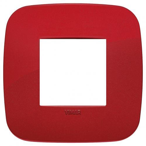 VIMAR - 19672.85 - Двумодулна рамка Round технополимер red