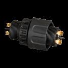 ULTRALUX - KW2PM19S Влагозащитен конектор M19, 2 пина, IP67 (1)