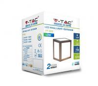 V-TAC -  12W LED Стенна Лампа 4000К Сиво тяло SKU: 8338, 3000К-8337, 6400K-8339 VT-822 (2)