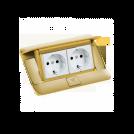 LEGRAND - 54016 Подова кутия 4 модула драскано злато