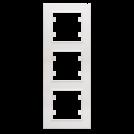 MAKEL - Тройна вертикална рамка Karea бяло 56001708