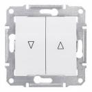 SCHNEIDER ELECTRIC - SDN1300121 Бутон за управление на щори с електрическа блокоровка Sedna, 10А , бял