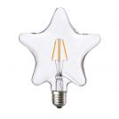 ACA LIGHTING - LED крушка димираща Звезда FILAMENT E27 6W 2700K 690lm STAR6WWDIM