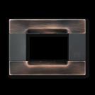 SIMON URMET - 10803.82 Copper Brushed Polychrome Gloss Metal Kadra тримодулна рамка