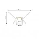 ACA LIGHTING - Алуминиев профил за лед лента за вграждане вътрешен ъгъл 2м. P123 (1)
