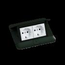 LEGRAND - 54026 Подова кутия 4 модула черен мат