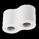 GTV Lighting - Луна за открит монтаж кръгла бяла двойна AVEIRO OS-AV80160OK2-10