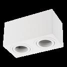 GTV Lighting - Луна за открит монтаж квадратна бяла двойна AVEIRO OS-AV80160KW2-10