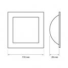 ULTRALUX - ILDS827 LED ЛУНА С ИНДИРЕКТНА СВЕТЛИНА КВАДРАТ 8W, 2700K, 220V (2)
