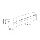 ULTRALUX - LIT1505450 LED ИНДУСТРИАЛНО ОСВ.ТЯЛО PC 220V 1,50M 54W 5000К IP66 (1)