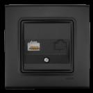 VIKO - Интернет розетка CAT5e LINNERA LIFE черно 90404032-BG