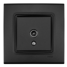 VIKO - ТВ коаксиална розетка  LINNERA LIFE черно 90404060-BG