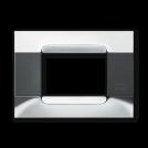 SIMON URMET - 10803.90 Nickel Polychrome Gloss Metal Kadra тримодулна рамка