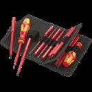 WERA - Комплект ръкохватки Kraftform Kompakt VDE (2 бр) 60I+IS/62I/65I/67I/17 с изолирани накрайници (17 части)