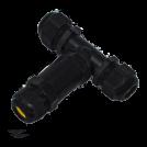 COmmel - Влагозащитен конектор IP68 /вход с два изхода/ черен за кабел 5х0.5-4 мм2 Commel 365-904