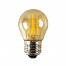 ACA LIGHTING - LED крушка кехлибар димираща топка FILAMENT E27 4W 2700K 390lm GLAMO4WWDIMAM