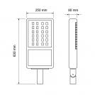 ULTRALUX - LUT2203042 LED тяло за улично осветление 220V 30W 4200К IP66 (3)