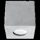 SOLLUX - Луна за външен монтаж QUAD бетонна SL.0489