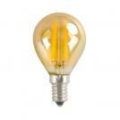 ACA LIGHTING - LED крушка димираща кехлибар топче FILAMENT E14 4W 2700K 390lm RETRO4WWDIMAM