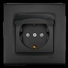 VIKO - Контакт с капак LINNERA LIFE черно 90404012-BG