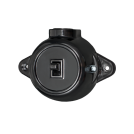 ATRA -  Еднополюсен ключ 10A открит монтаж IP21 черен 5118