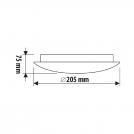 ULTRALUX - GPLE14L11 Стъклена плафониера, кръг L11, Е14, 220V-240V AC, IP20 (2)