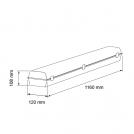 ULTRALUX -  LIT1203650 LED ИНДУСТРИАЛНО ОСВ.ТЯЛО PC 220V 1,20M 36W 5000К IP66 (1)