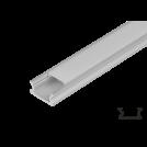 ULTRALUX - APN207 Алуминиев профил за LED лента, плитък, 2м