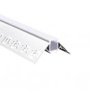 ACA LIGHTING - Алуминиев профил за лед лента за вграждане външен ъгъл 2м. P122