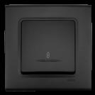 VIKO - Девиаторен ключ с индикация LINNERA LIFE черно 90404063-BG