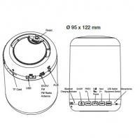 V-TAC - 3W LED Настолна Лампа Колона RGB+Бяло 3000K SKU: 8516 VT-1043 (5)