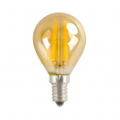 ACA LIGHTING - LED крушка димираща кехлибар топче FILAMENT E14 6W 2700K 550lm RETRO6WWDIMAM