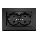 VIKO - Двоен контакт LINNERA LIFE черно  90404056-BG